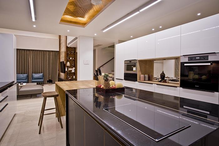 A stylish, designer modular German kitchen by Nolte.