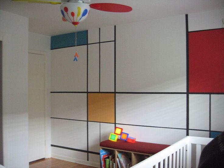 A Piet Mondrian wall