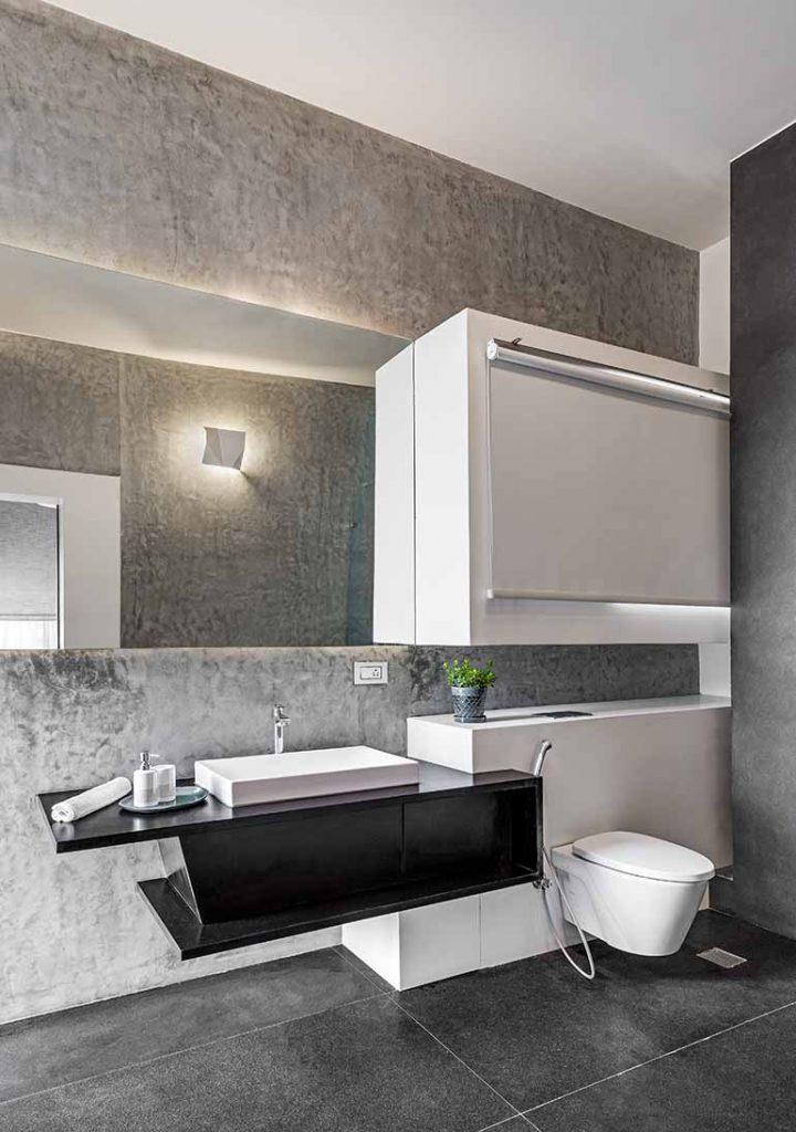Bathroom design of a house in Bangalore