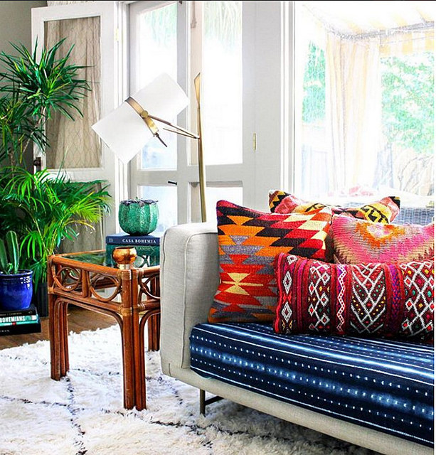 Bohemian livingroom decor ideas from Alyse's home in New Orleans