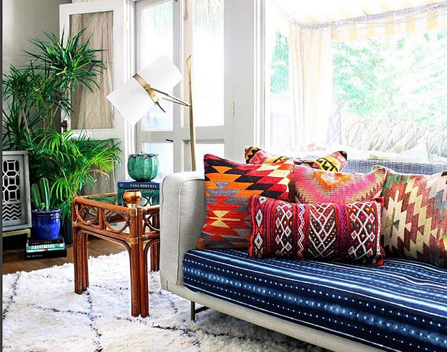 Here's how this designer infuses color in her home with just one thing. Take a guess!