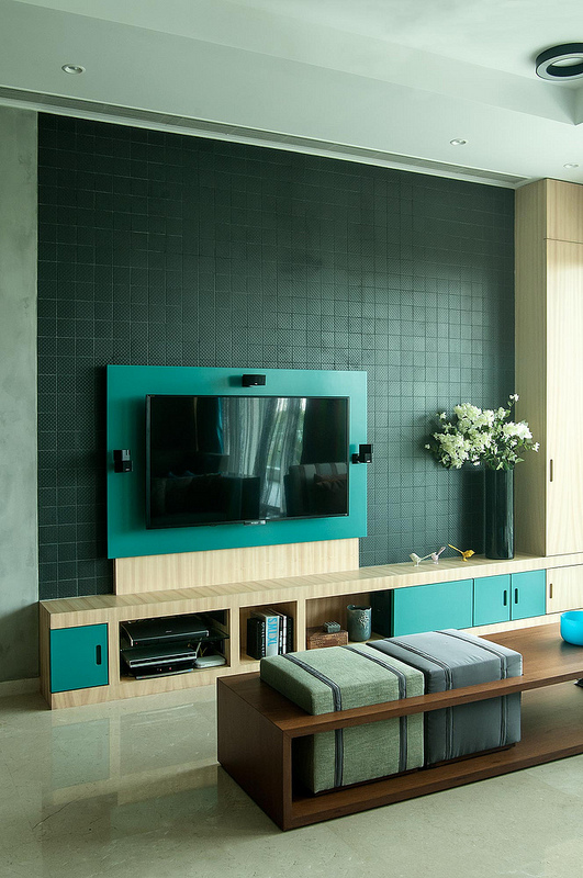 Contemporary TV unit design by MuseLAB