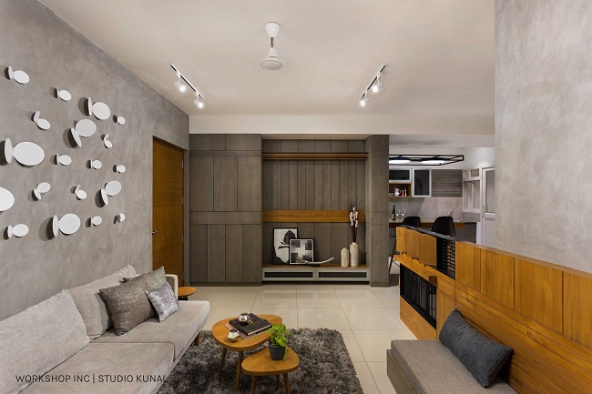A Nordic Style Apartment in Bangalore Dressed in Gorgeous Shades of Gray