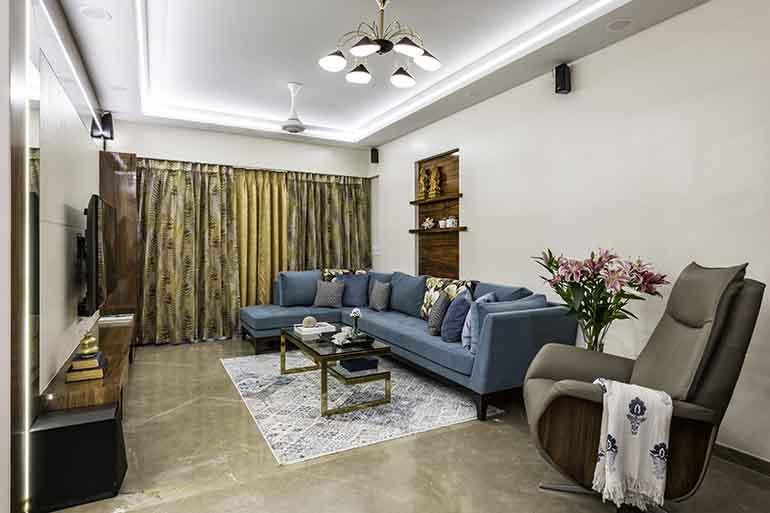 a modern minimal living room