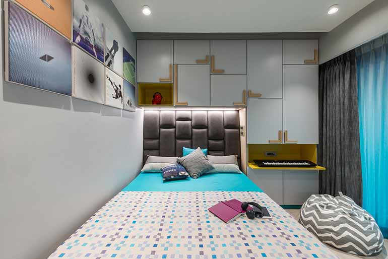 Kids bedroom designed by Studio Osmosis in World One Tower, Mumbai