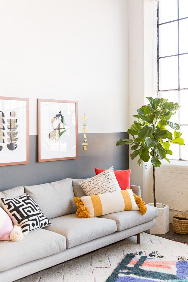 This simple wall painting trend is making a comeback and I can't wait to try.