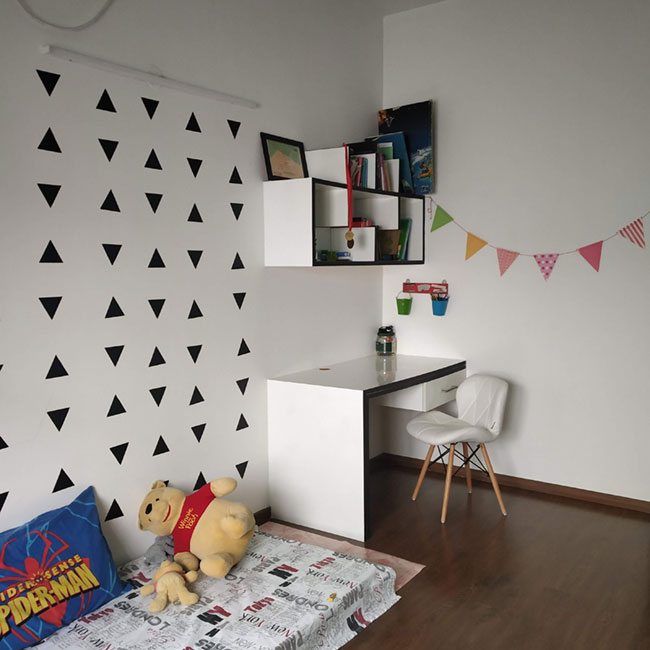 Wooden flooring in kids bed room in India