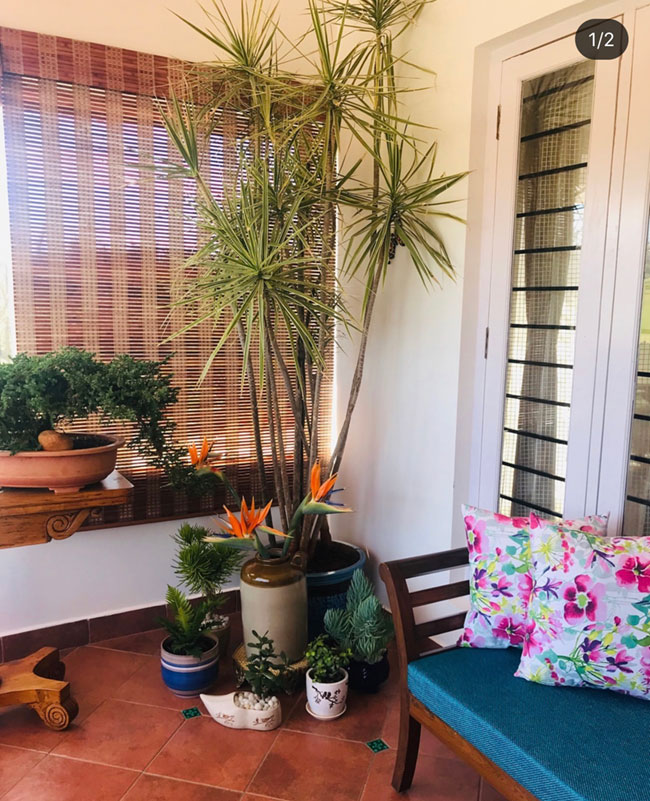 Sun room in a Ooty home built in the traditional style