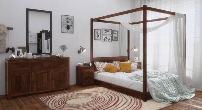 A 4- poster bed from Urban Ladder
