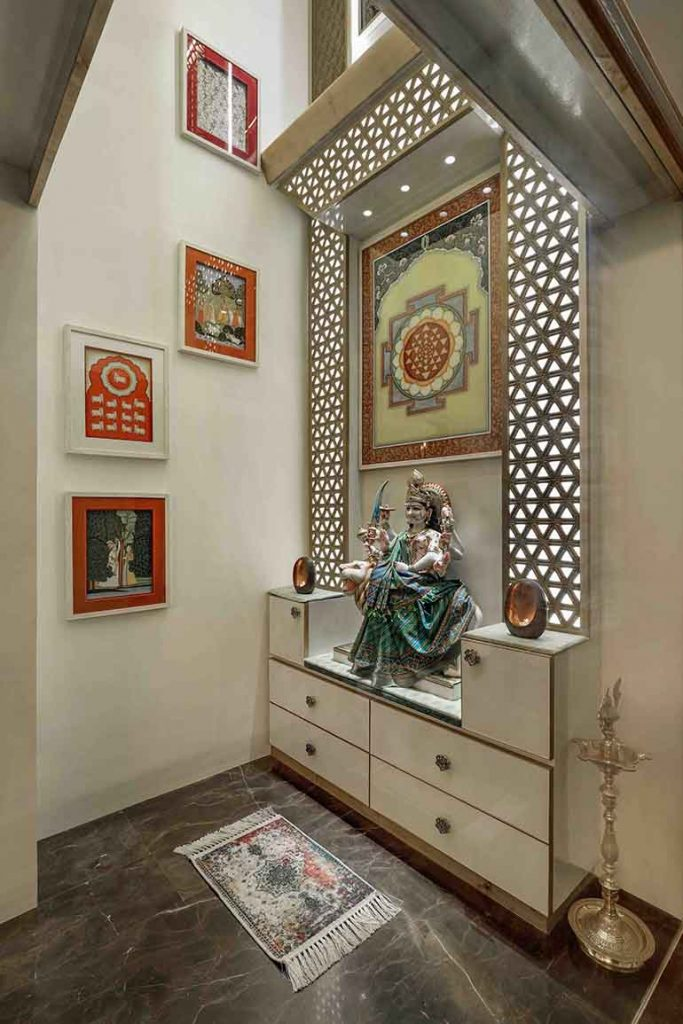 Temple design in an independent house