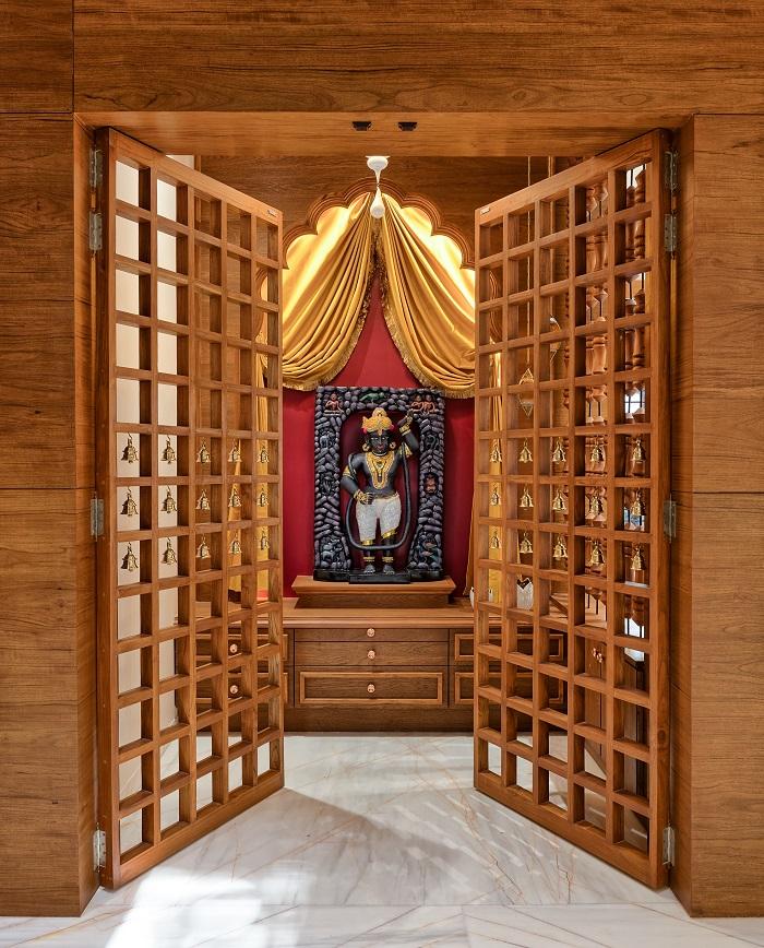 Pooja Room Glass Door Design Modern