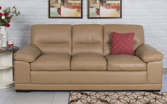 three seater leather home centre sofa