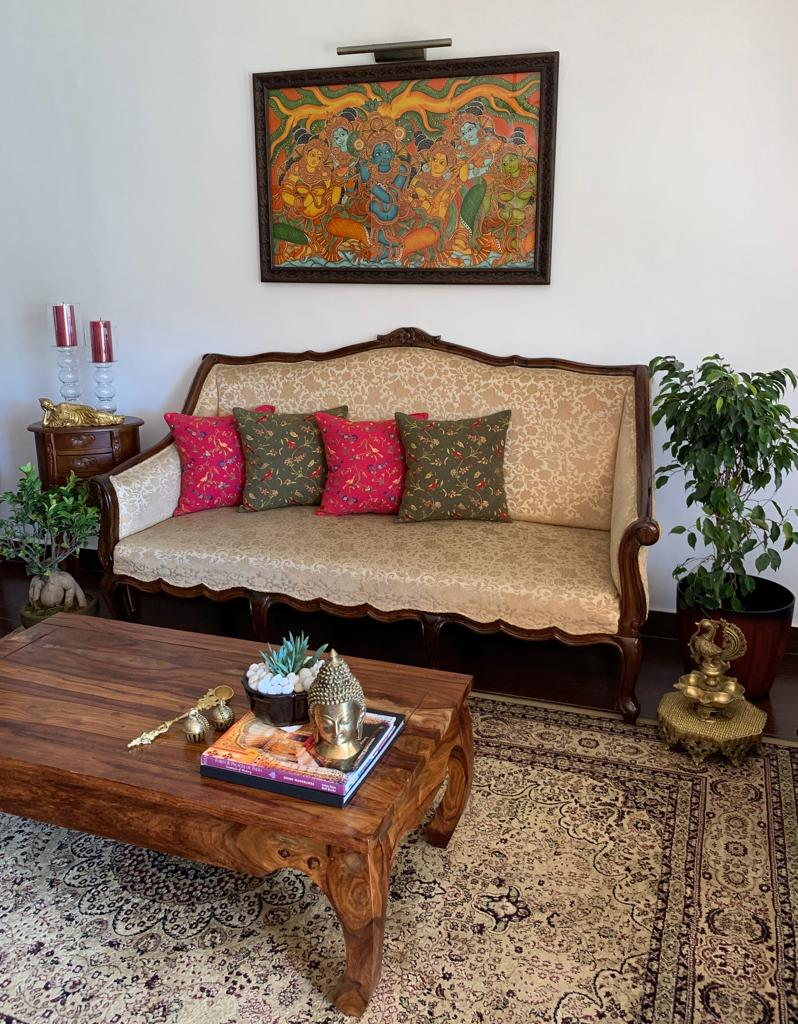 A traditional South Indian home in Ooty with antique furniture
