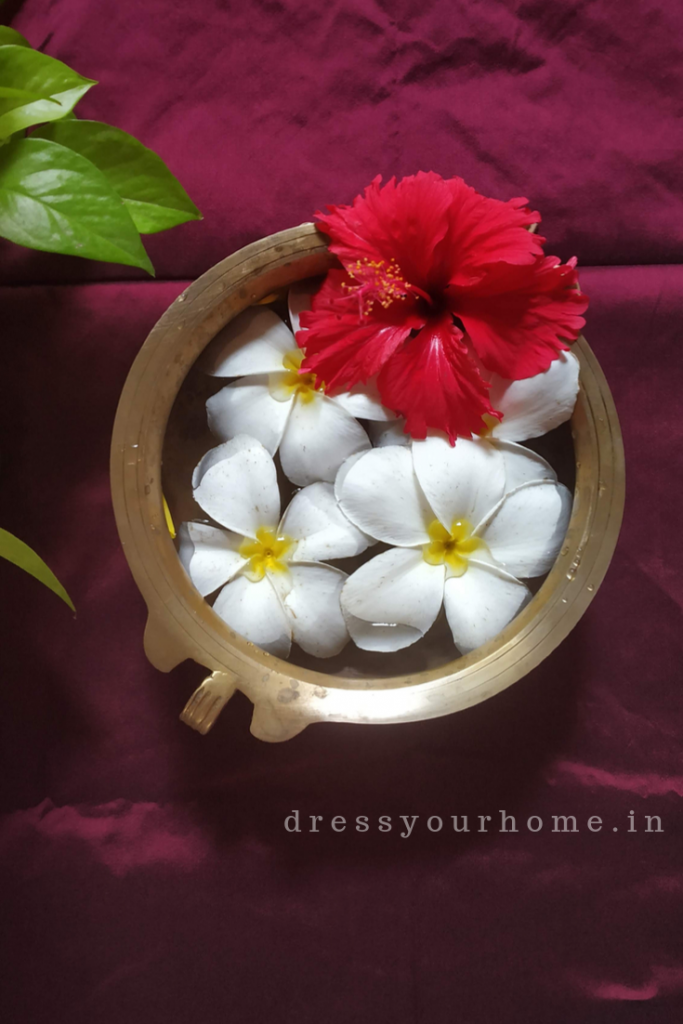 Diwali decoration ideas with fresh flowers