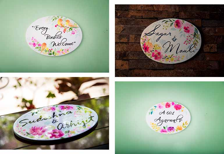 customized name plate designs for flats and apartments