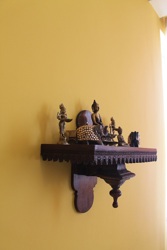 Wall mounted pooja shelf